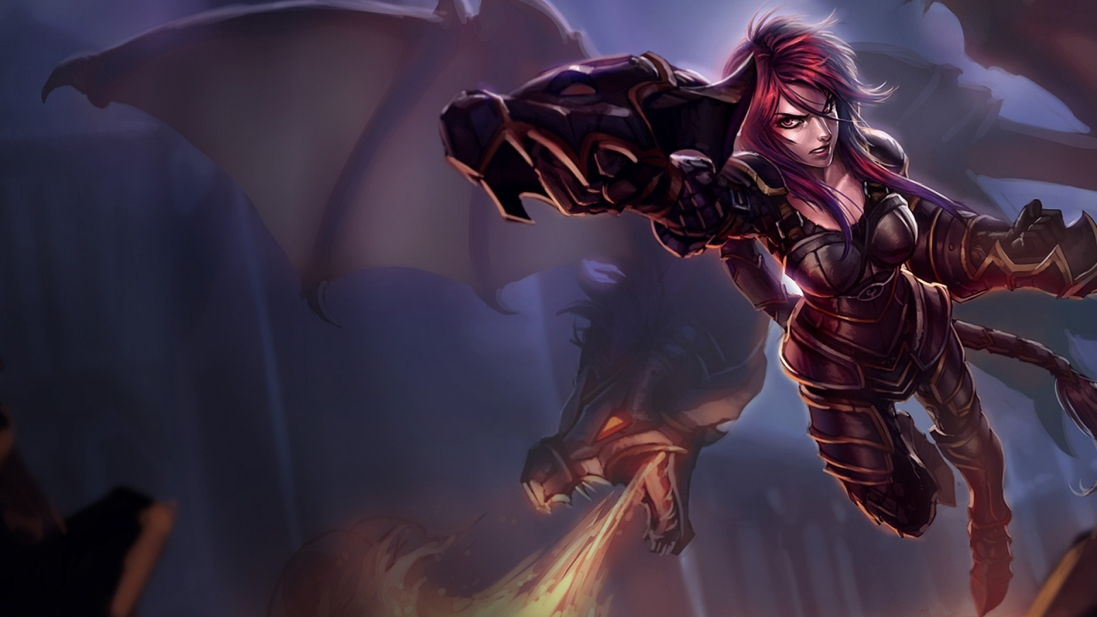 Shyvana Wallpaper 1600x900 by Virgate on DeviantArt