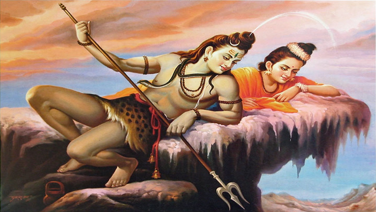 lord shiva parvati paintings wallpapers   1280x720   242919