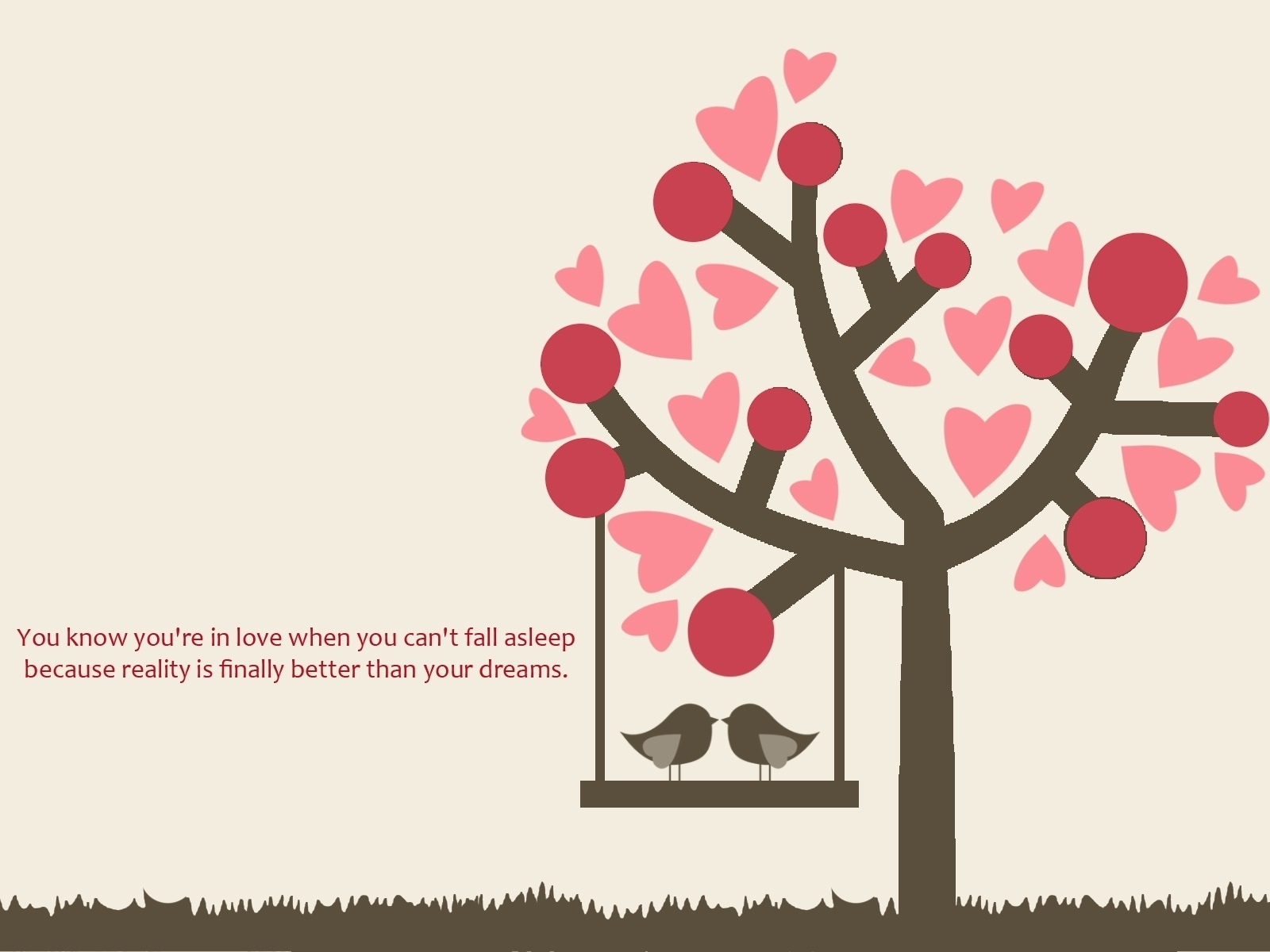 Love Birds And Brushes Hearts Wallpapers 1600x1200 170743
