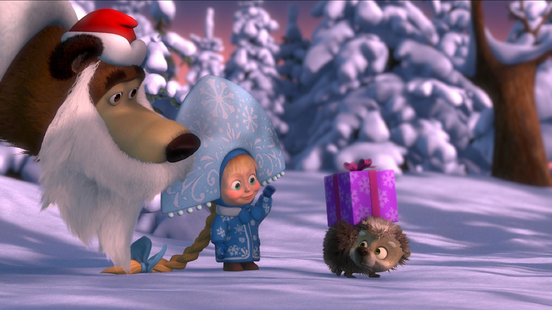 Masha And The Bear Winter  1920 x 1080  Download  Close