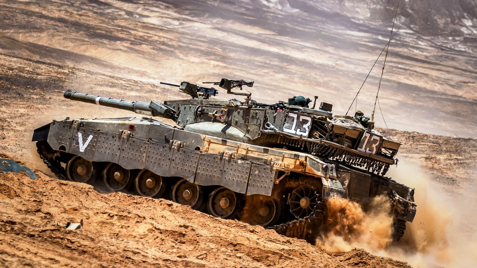 Merkava Main Ba... Battle Tanks Wallpaper