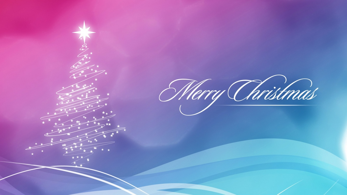 Merry Christmas Cards Wallpapers 1366x768 190969