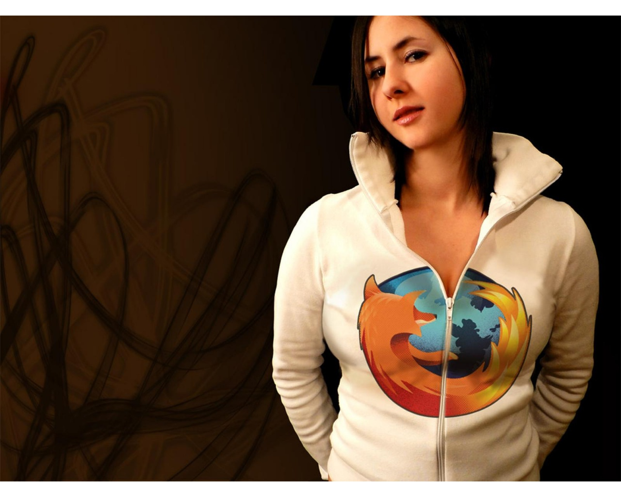 mozilla firefox logo girl wallpapers   1280x1024   213626
