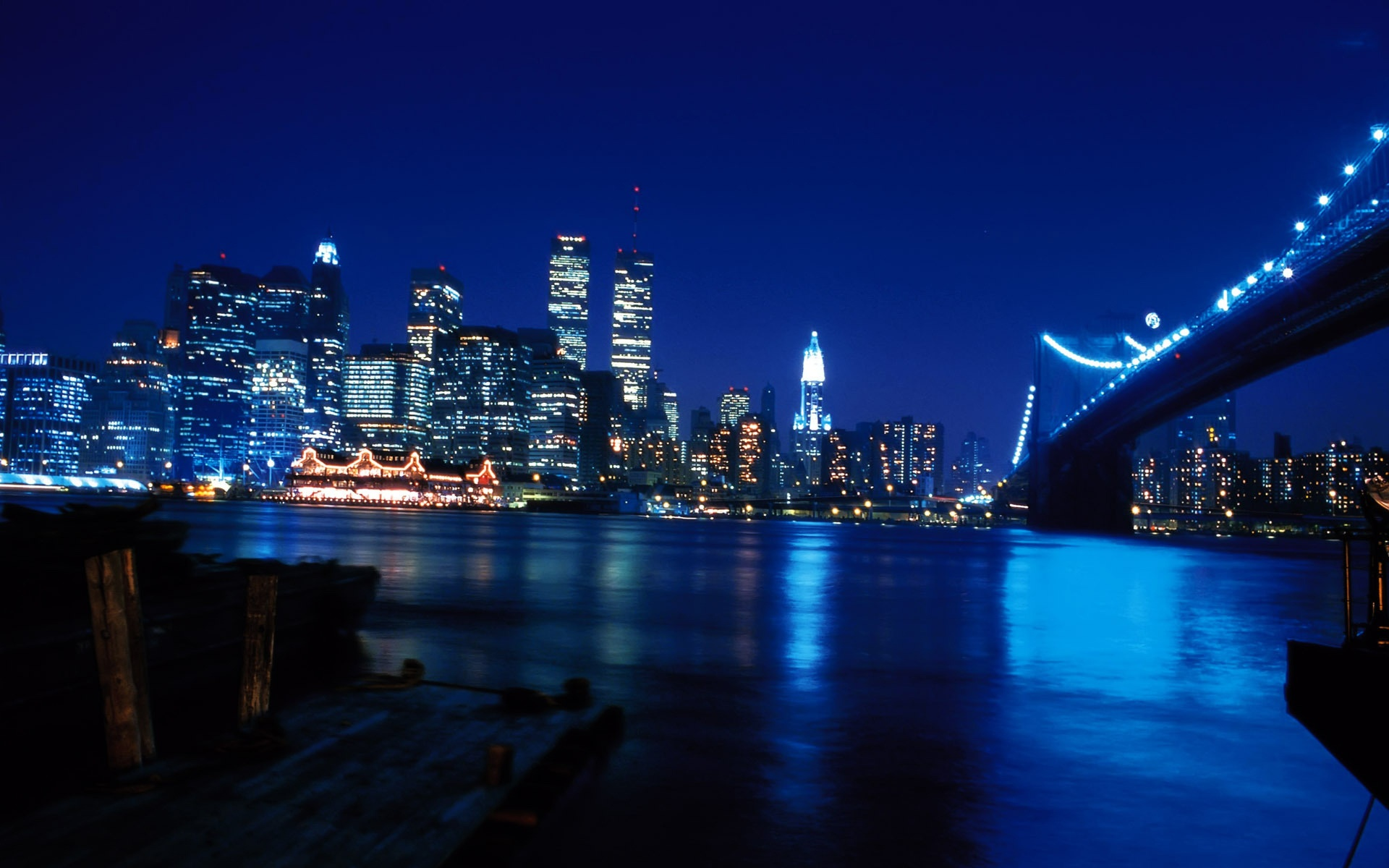 New york city at blue night 1920 x 1200 download close