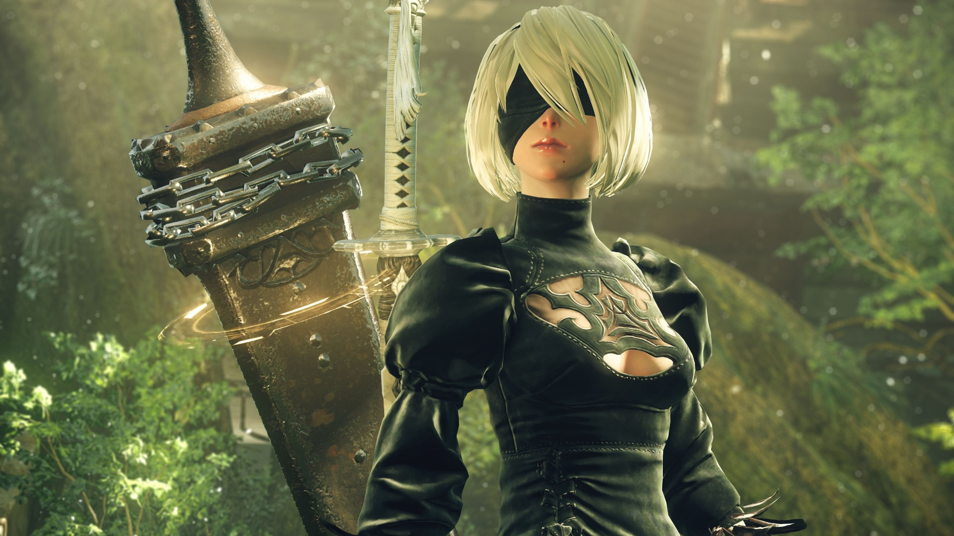 Nier Automata 5k 2b Android Girl Wallpapers 1920x1080 547895