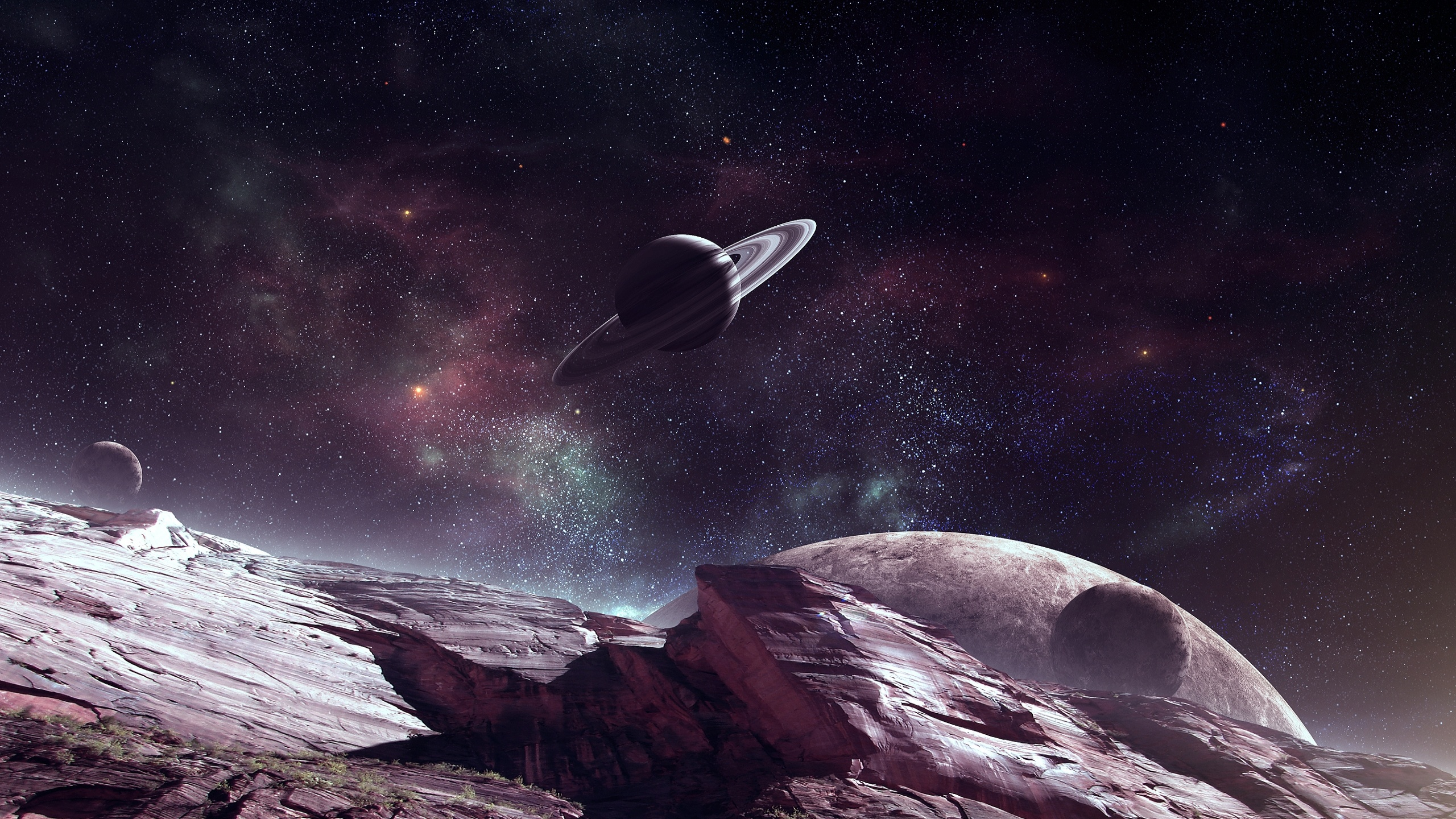 Outer space galaxies wallpapers 2560x1440 1653376 - Space 2560 x 1440 ...