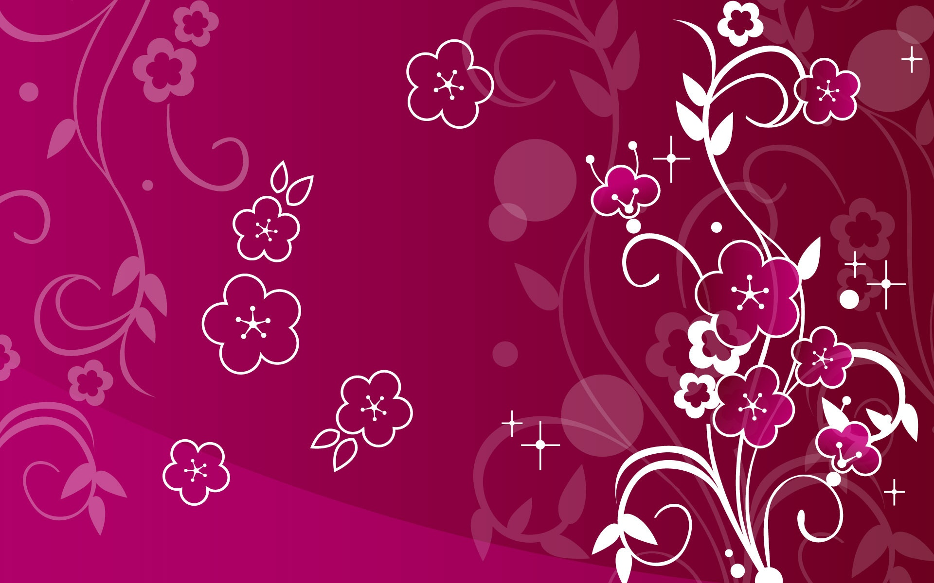 purple flower abstract wallpapers - 1920x1200