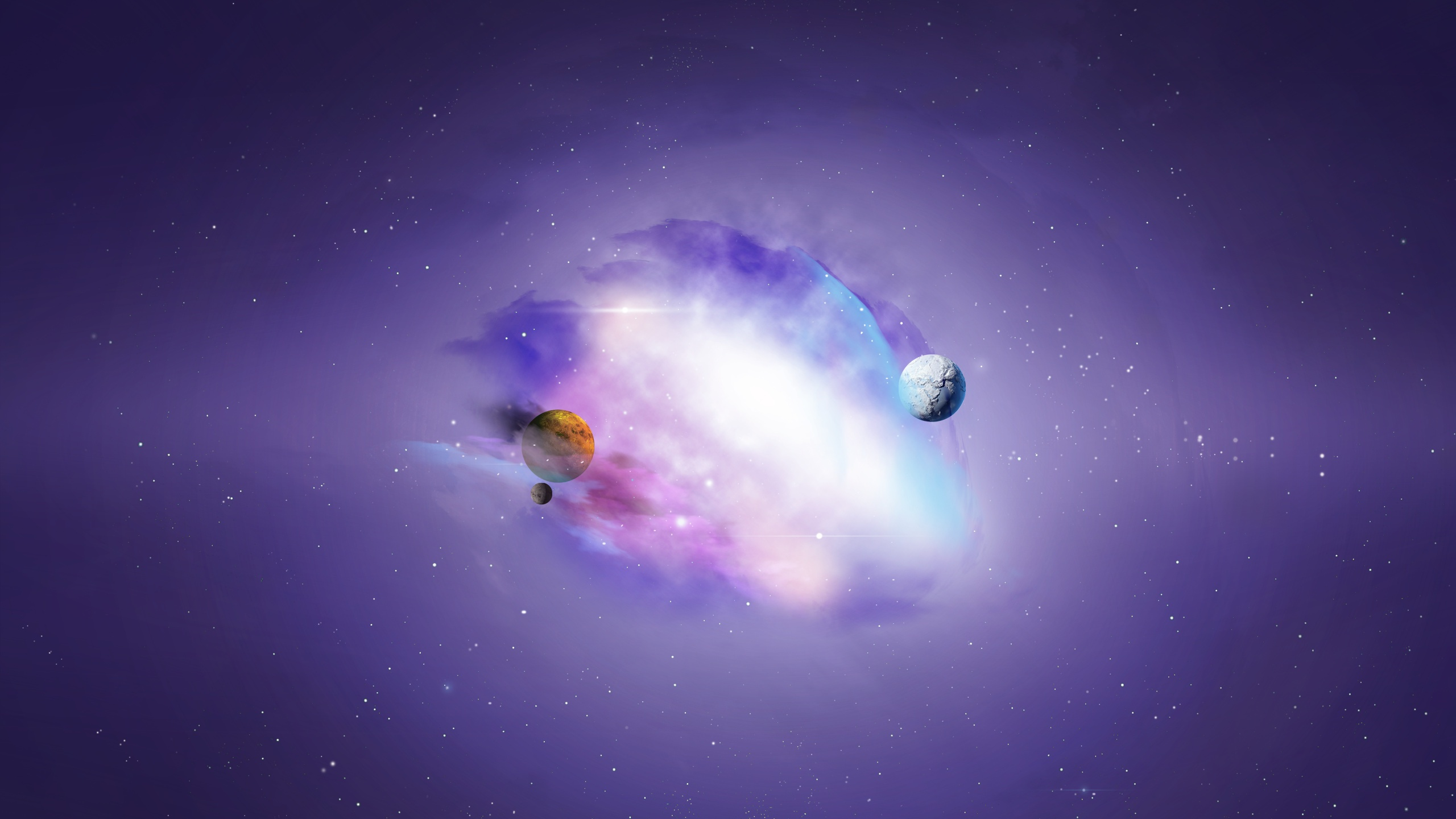 purple universe galaxy wallpapers - 2560x1440 - 415448