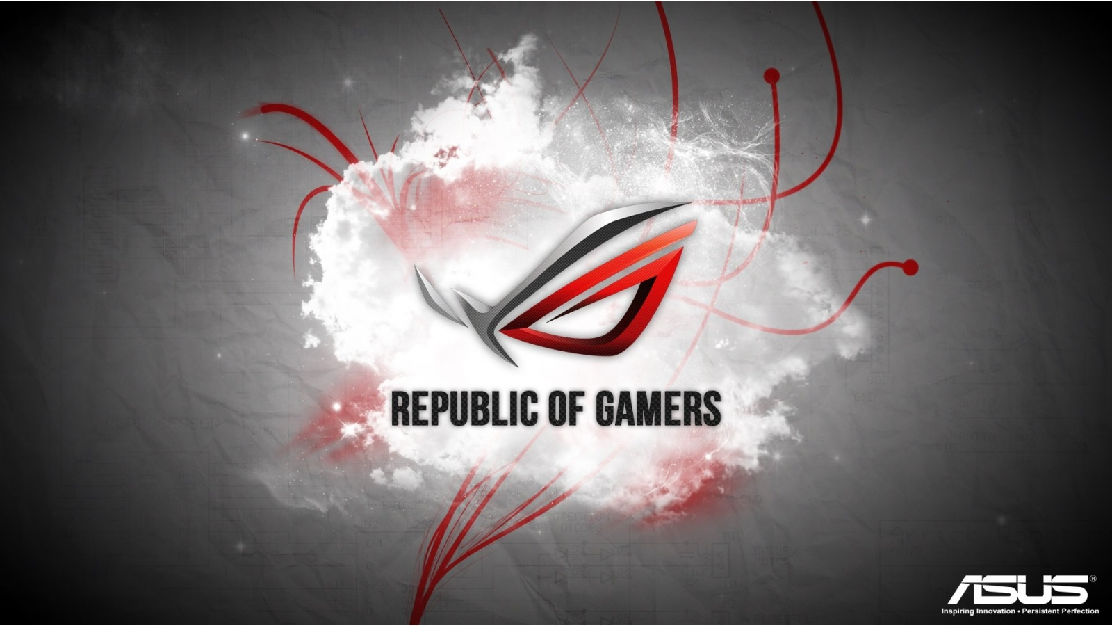 Red Asus Republic Of Gamers