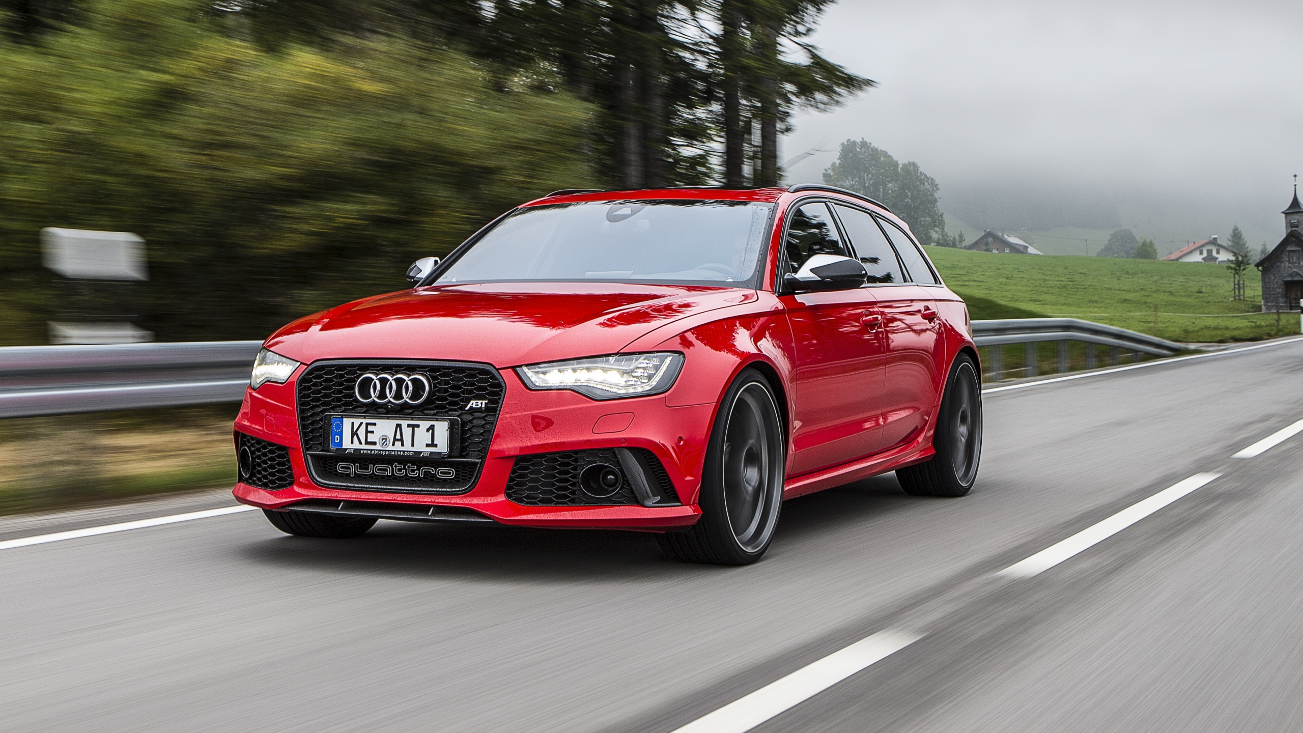 Red Audi Rs6 Avant 2013 Wallpapers 2560x1440 1239164
