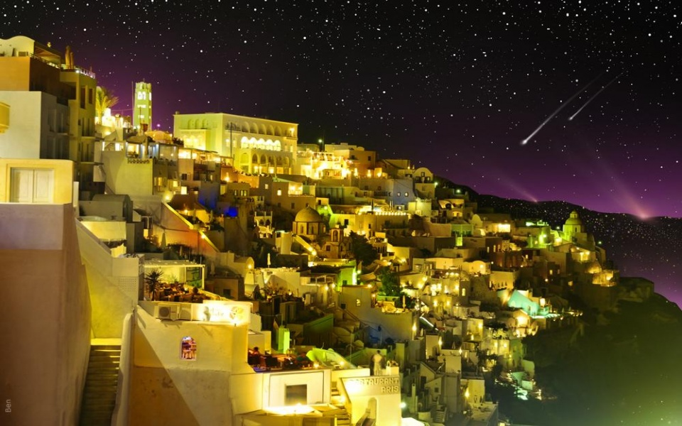 Must see Wallpaper Night Greece - santorini_greece_night-960x600  Photograph-69358.jpg