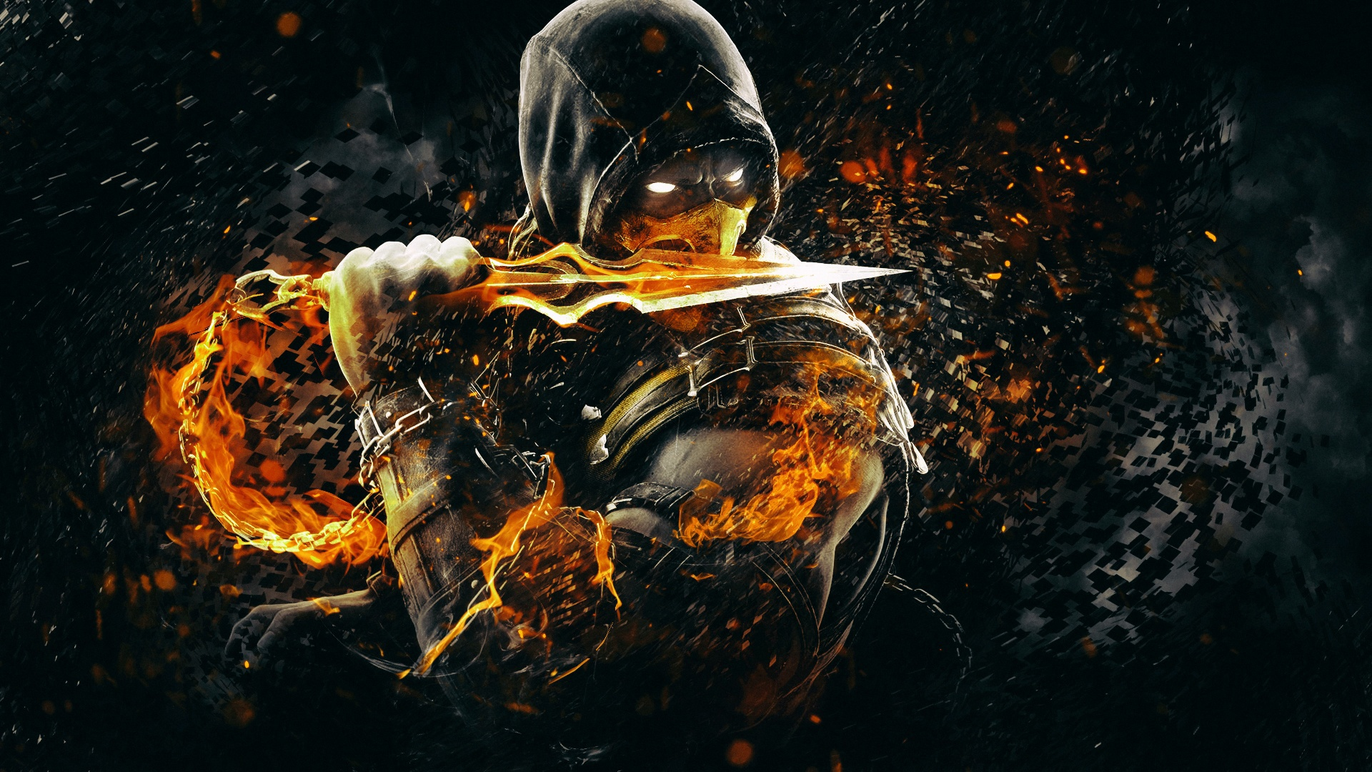 Mortal Kombat X Scorpio 3d Cool Video Games Wallpapers: Scorpion Mortal Kombat X Art Wallpapers