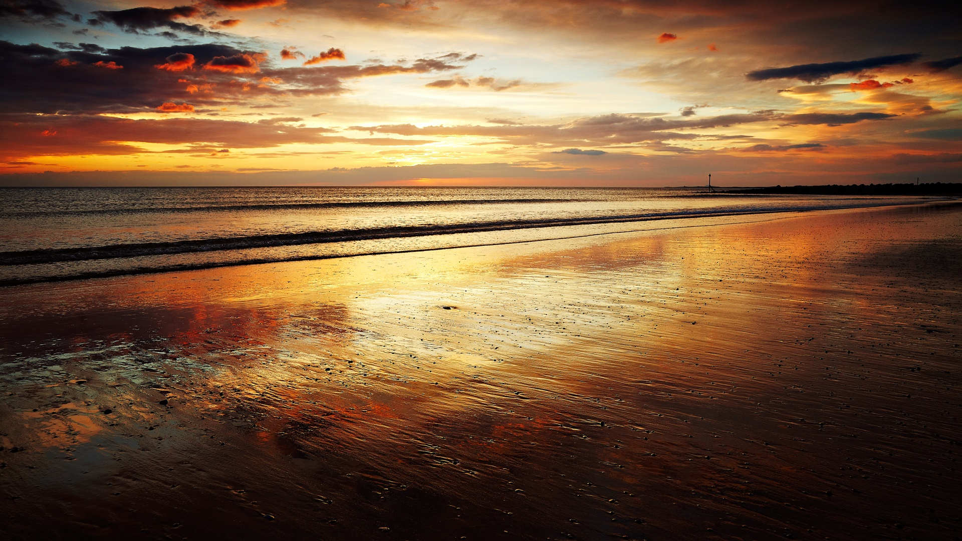 Scotland Sea Sunset And Colorful Sky Wallpapers ...
