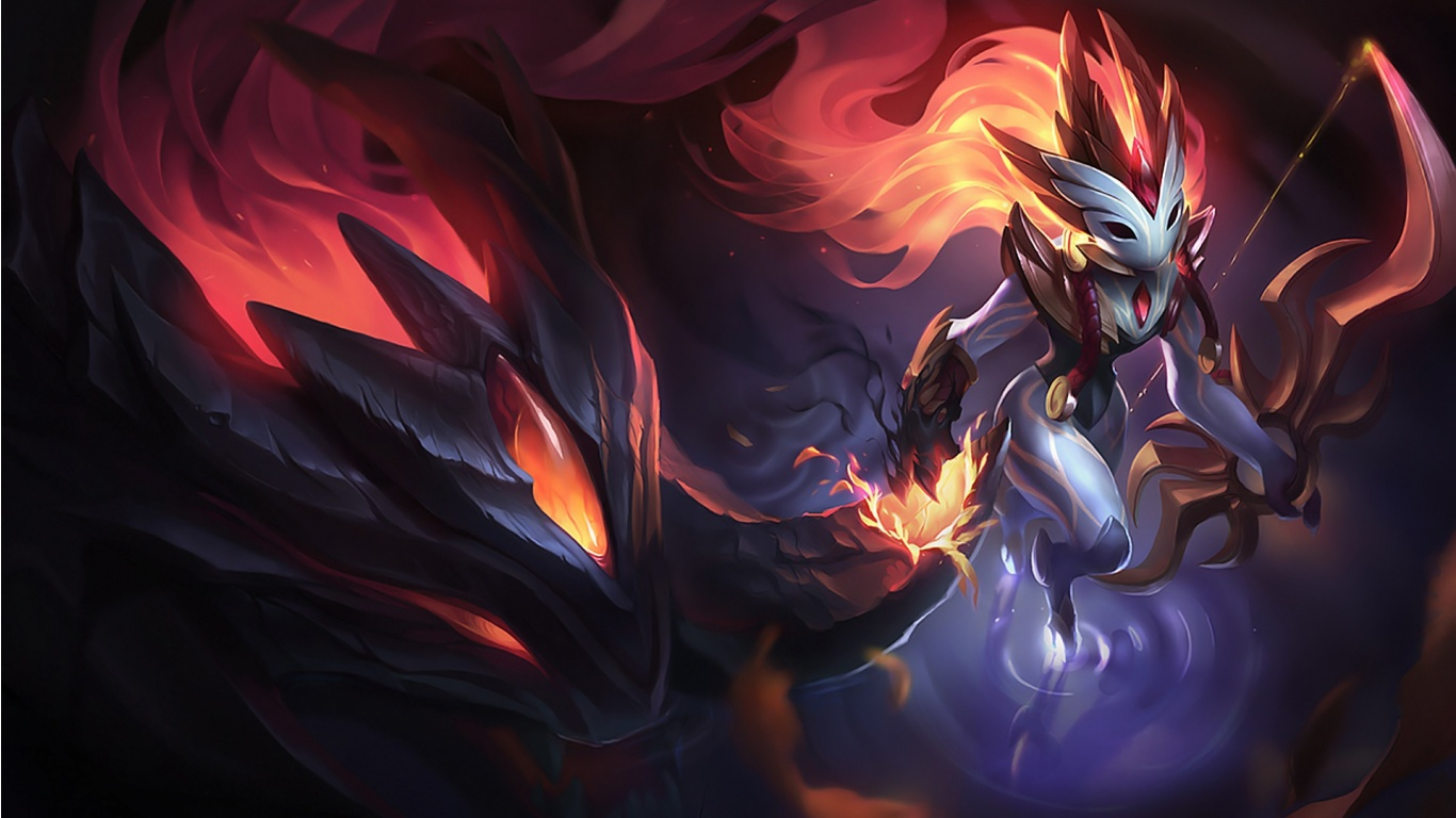 Shadowfire Kindred Skin League Of Legends Wallpapers