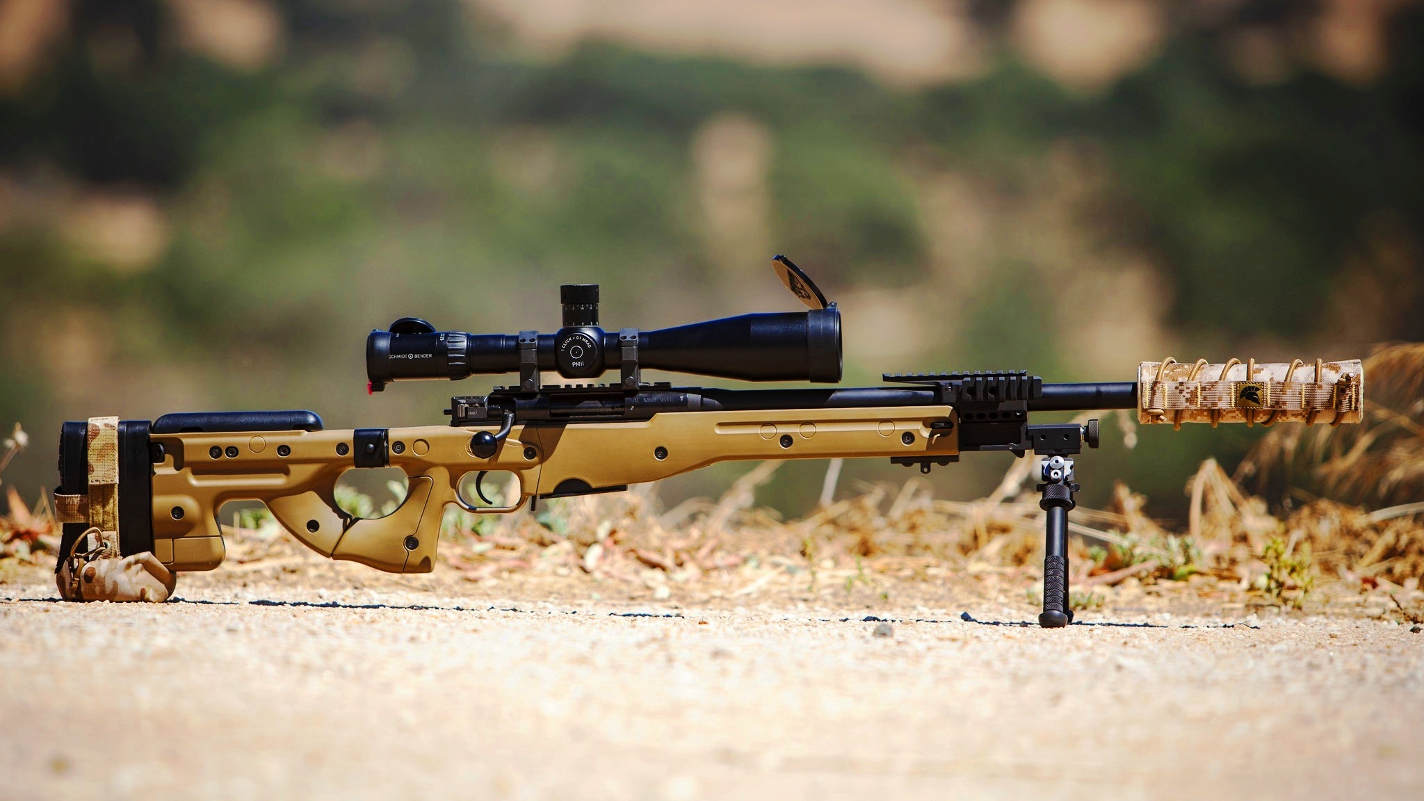 Sniper Rifle Optics Bipod