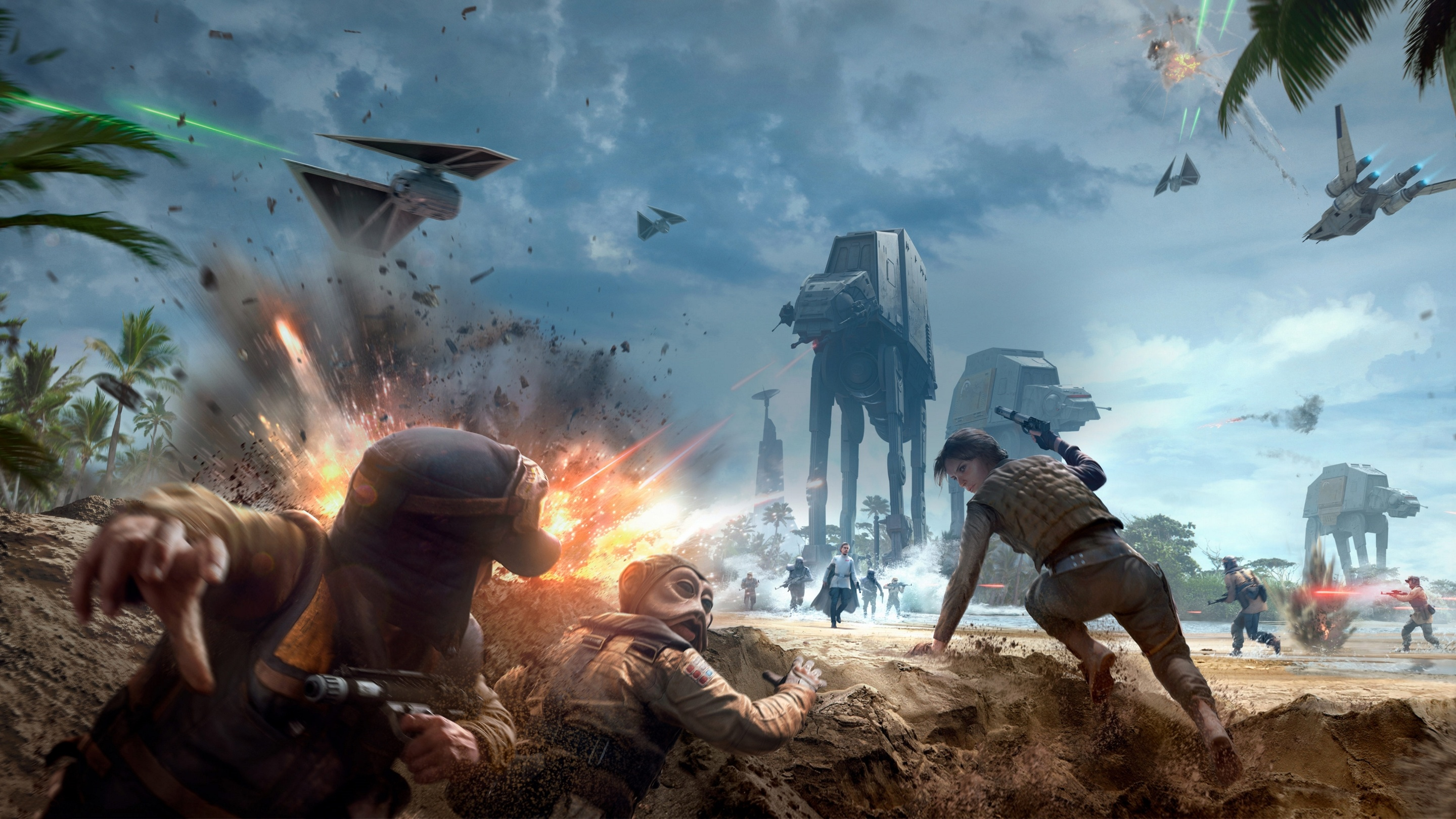 Star Wars Battlefront Rogue One Scarif Wallpapers 2880x1620 1254532
