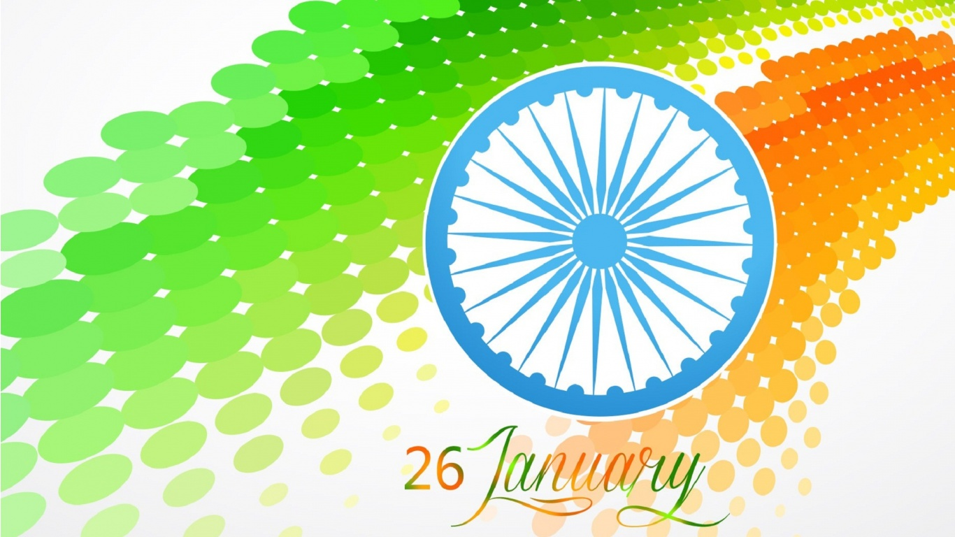 Indian Flag With Different Views: Stylish Indian Flag At 26 January Wallpapers
