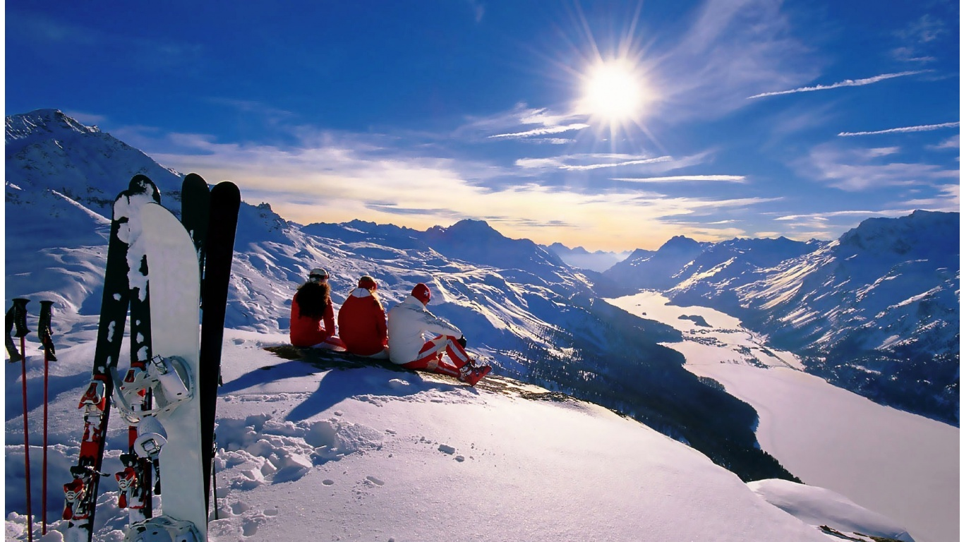 switzerland winter ski wallpapers - 1366x768 - 347282
