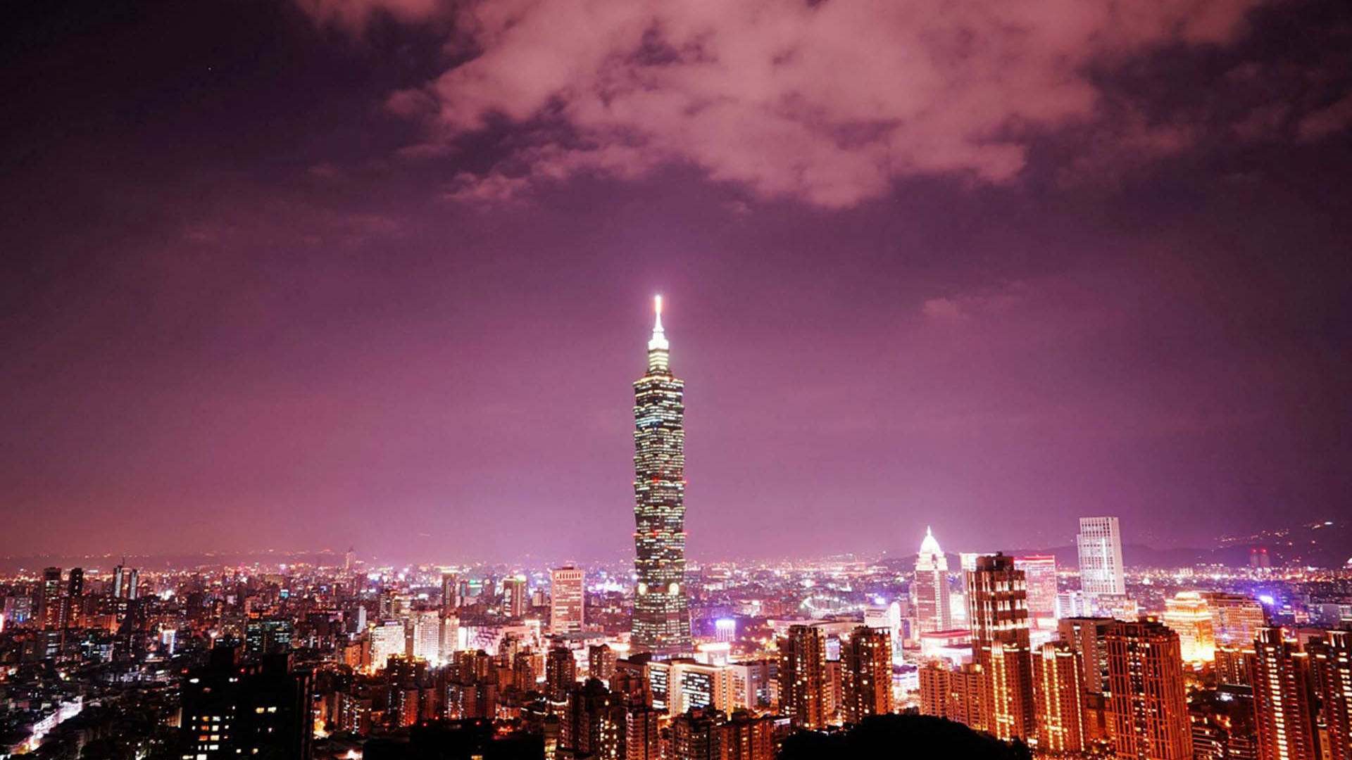 taipei 101 tower city light skyline wallpapers - 1920x1080 - 383448