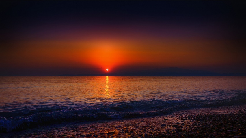 The sky sunset beach waves wallpapers 852x480 109917 for Sfondi 2048x1152