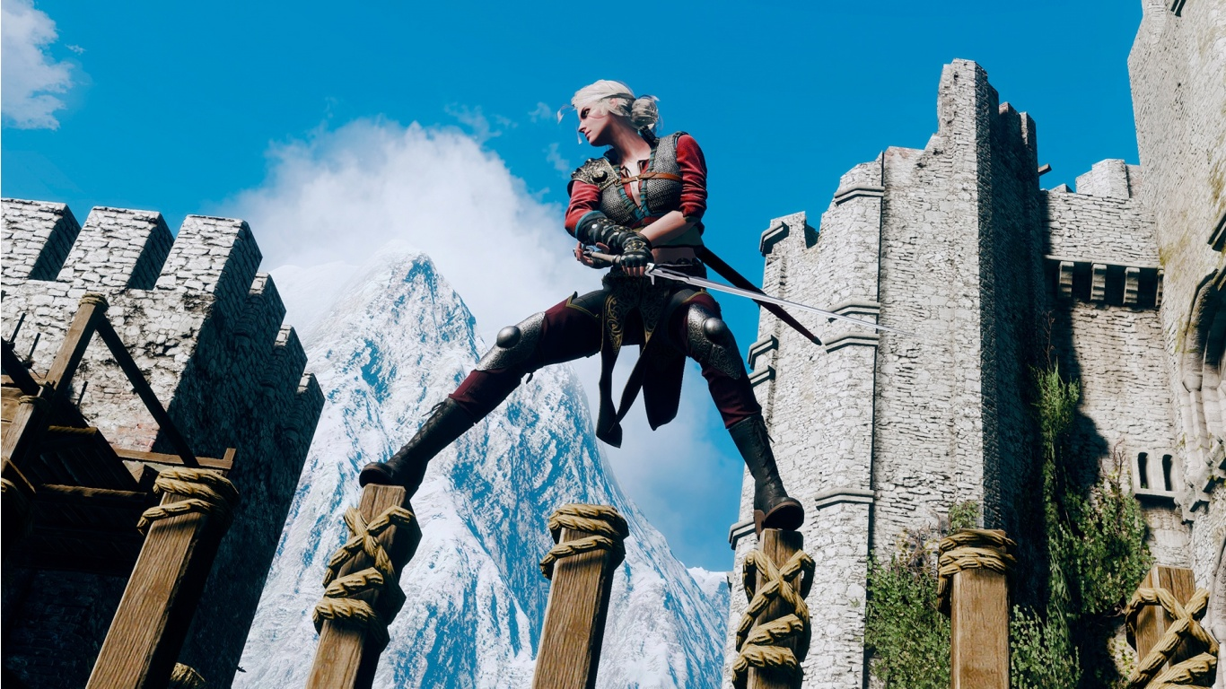 The Witcher 3 Ciri Training Wallpapers 1366x768 498409