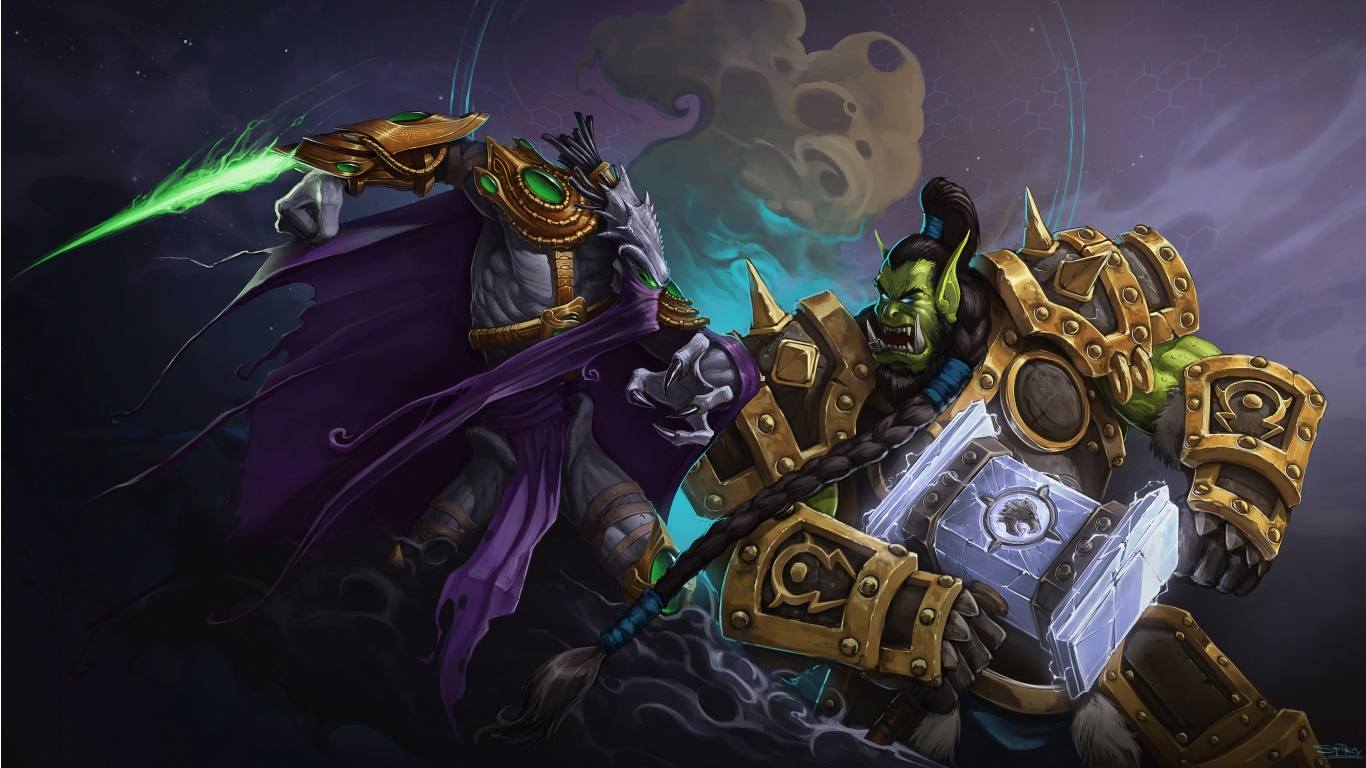 Thrall Vs Zeratul Heroes Of The Storm Wallpapers 1366x768 318568