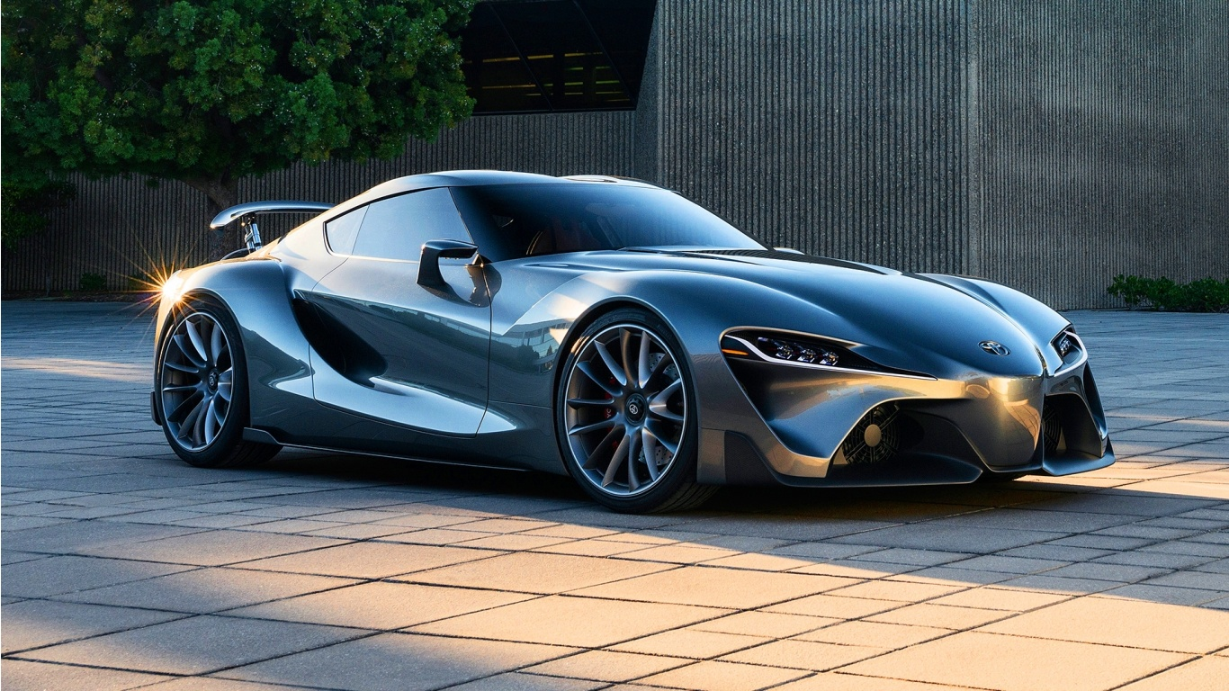 Toyota Ft 1 Graphite Concept 2014 Wallpapers 1366x768 509447