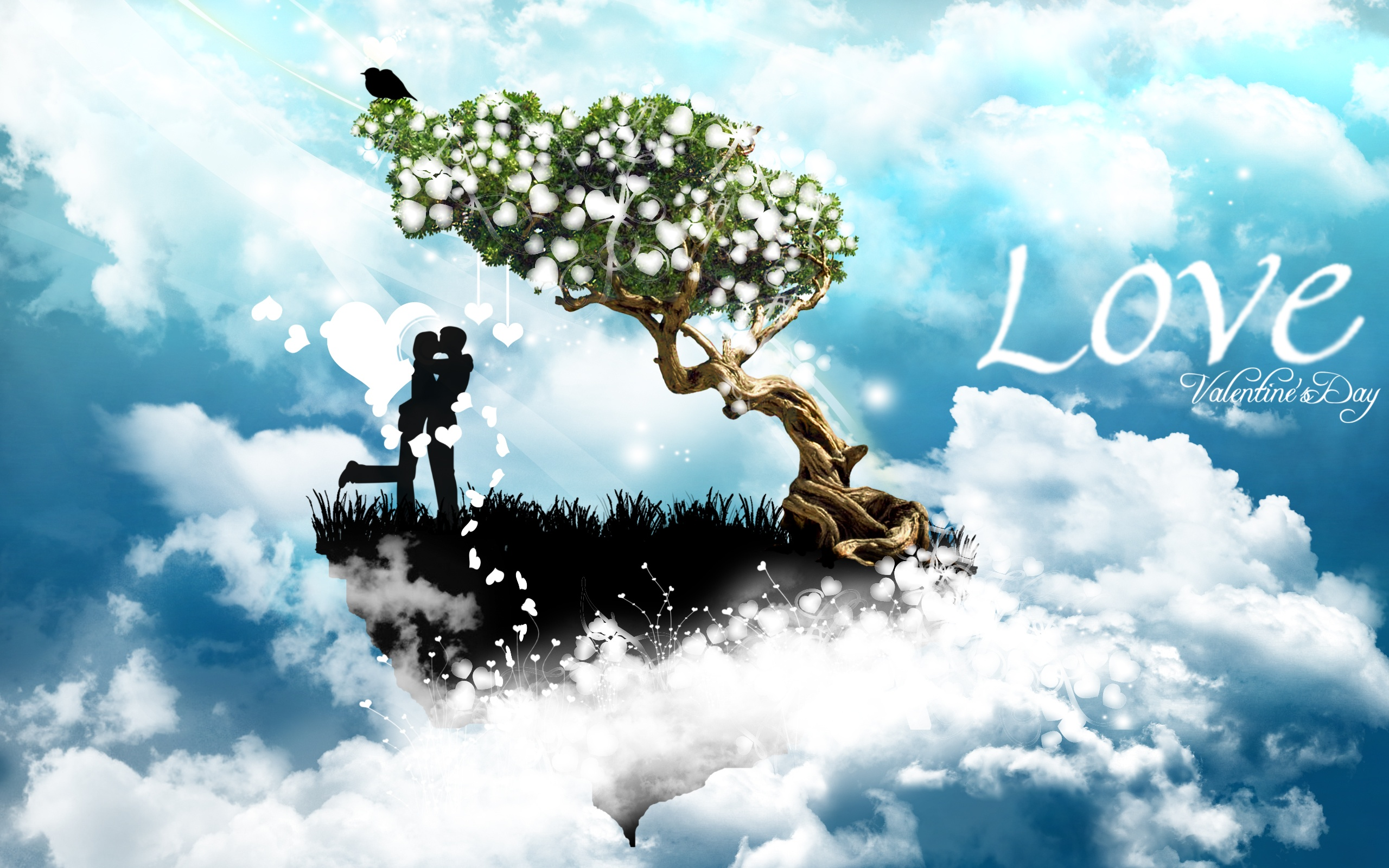 Love Wallpapers 2560x1600 : Tree Of Love By Wallpapers - 2560x1600 - 966037
