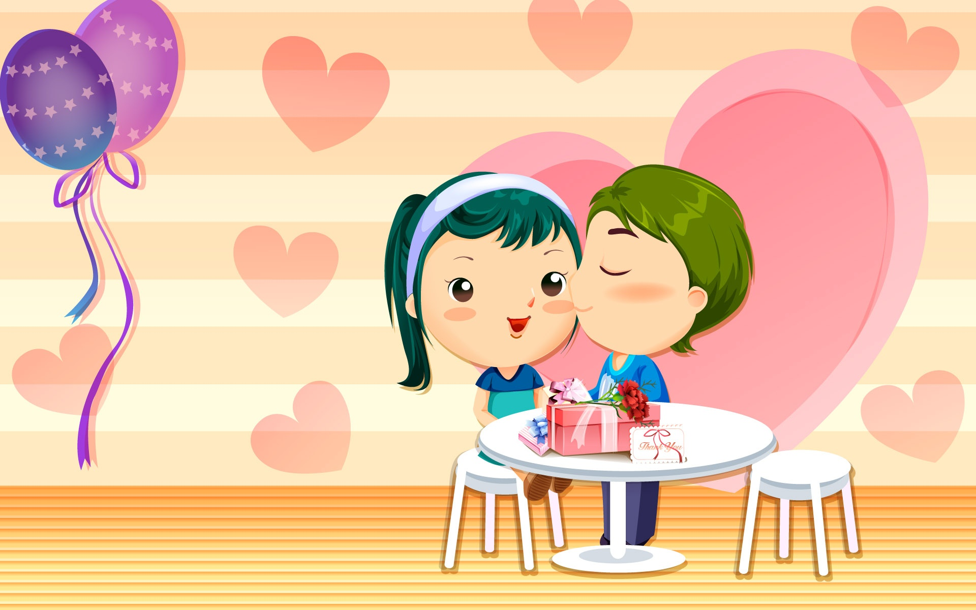 Valentine 39 s day cartoon wallpapers 1920x1200 365451 - Cartoon valentine wallpaper ...