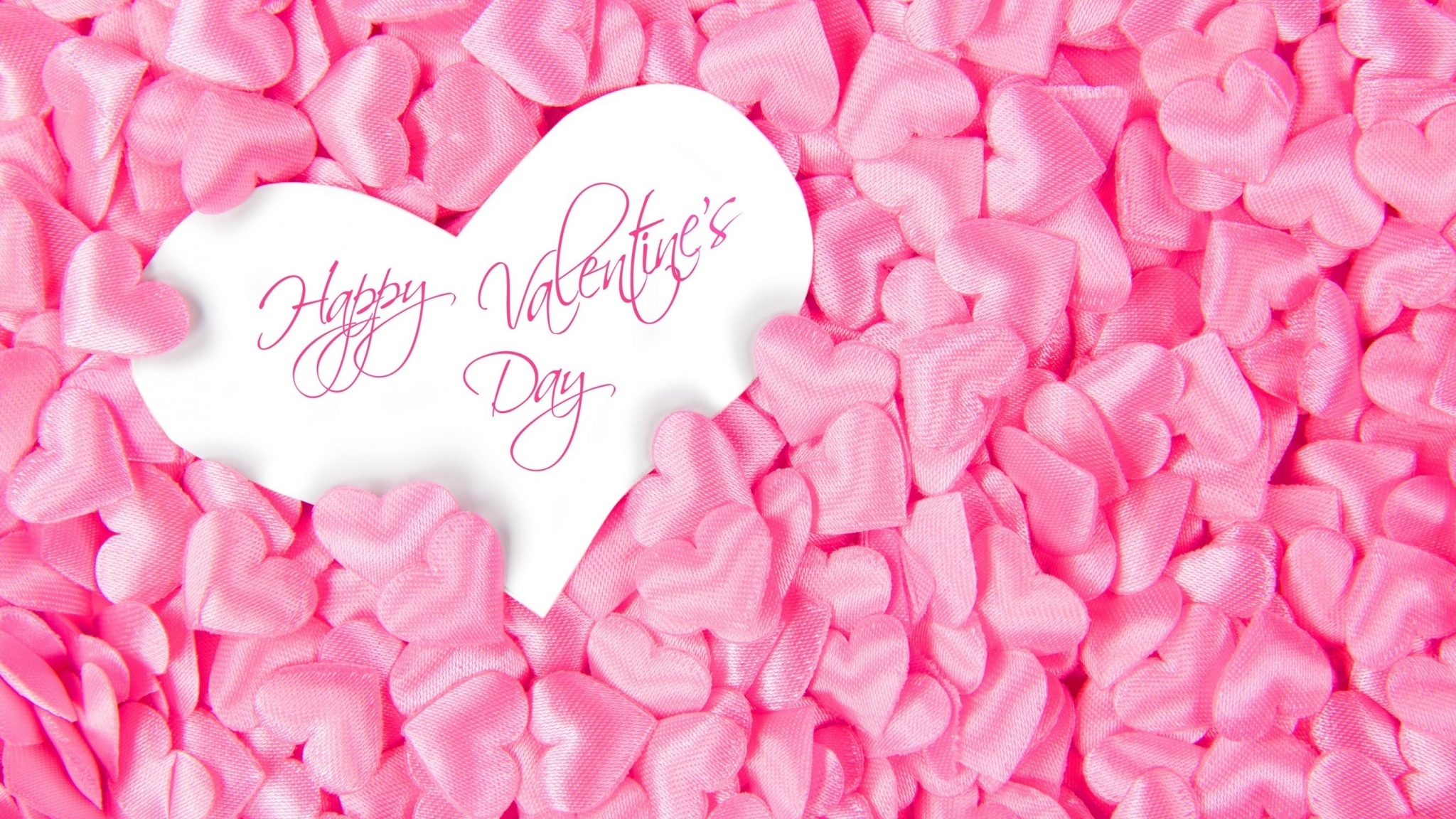 Valentines Day Pink Heart Wallpapers - 2048x1152 - 971693