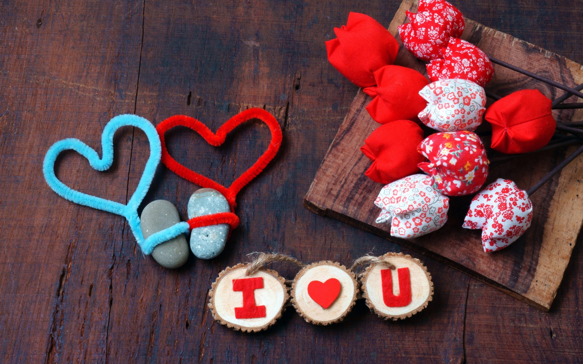 Valentine S Day Red And Blue Heart Wallpapers 1920x1200