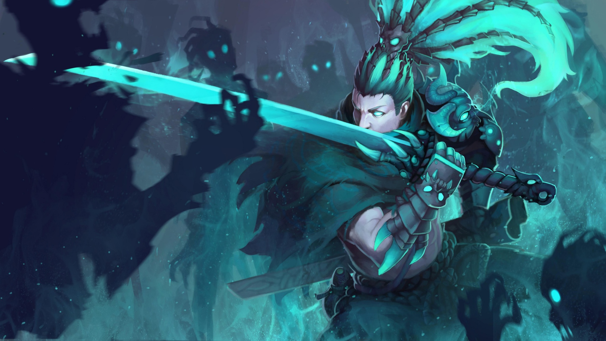 Yasuo Nether Blade Skin Art Wallpapers 2048x1152