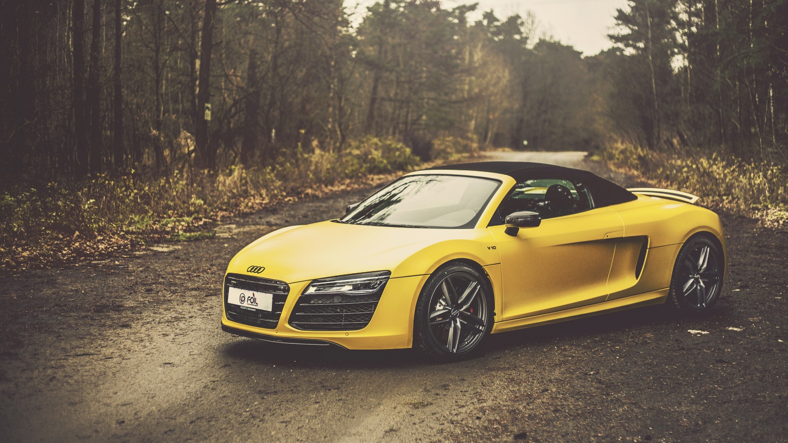 Yellow Audi R8 V10 Spyder Wallpapers 1600x900 605968