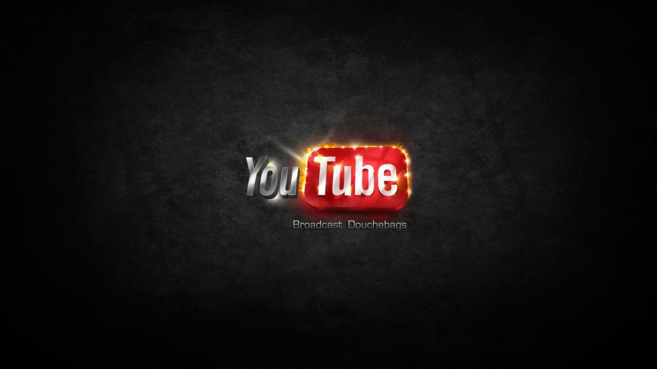 youtube logo wallpapers 1280x720 142745. Black Bedroom Furniture Sets. Home Design Ideas
