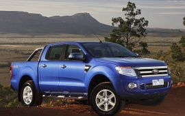 2012 Ford Ranger Blue Car