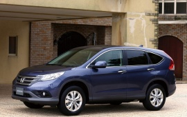 2012 Honda CR V Blue Car