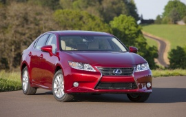 2013 Lexus ES 300h Red Car