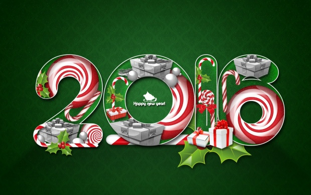 2016 New Year Green Background (click to view)