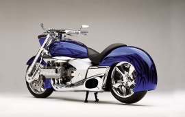 3D Blue Motorcycles