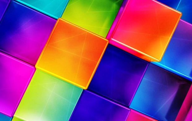 Free Colorful Geometric Wallpaper: 3D Colorful Geometric Wallpapers
