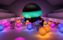 3D Glass Color Balls