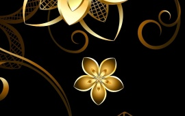 3D Golden Flower