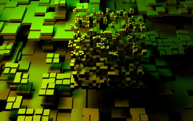 3D Green Blocks (click to view)