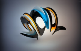 3D Spiral Shape Abstract