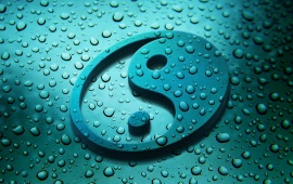 3d Yin Yang And Drops
