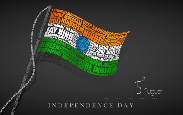 70 Independence Day Typography Flag (click to view)