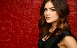Lucy Hale Red Wall