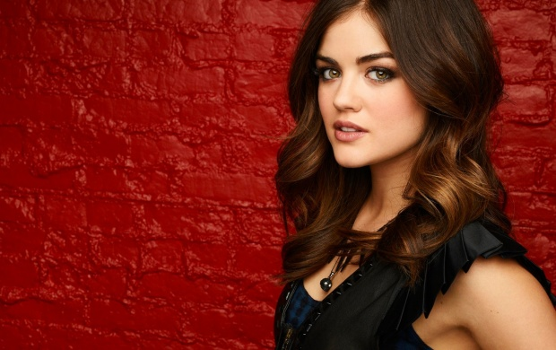 Lucy Hale Red Wall (click to view)