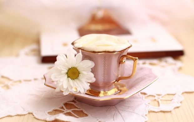 A Cup of Coffee and a Flower (click to view)