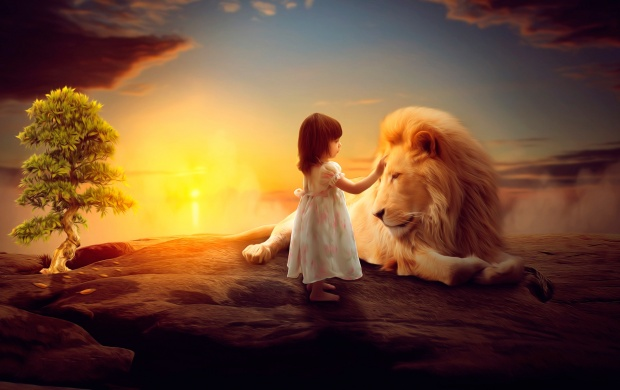 A Girl Lion's Imagination (click to view)